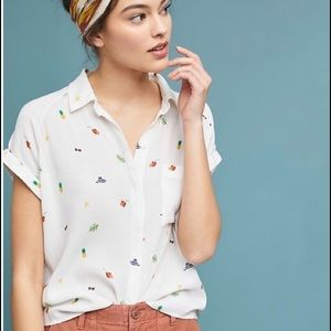 ANTHROPOLOGIE -RAILS Whimsy Button Down Shirt M